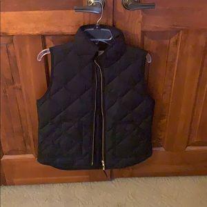 JCrew Size S black vest